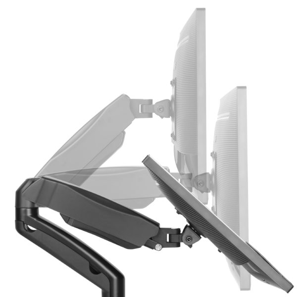 Double Arm Monitor Mount Multi Angles Position Weight
